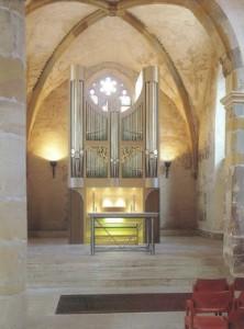 Entwurf und Ausführung der Schleierbretter für die Orgel St. Laurentius in Diekirch/ Luxemburg i.A. der Orgelbaufirma Romanus Seifert und Sohn in Kevelaer 1999