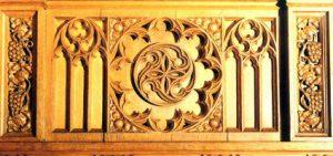 Ergänzung Rosette, Altar Kirchengemeinde St. Gereon, Dürscheven, i.A. Lutz Sankowsky, Restaurator im VdR, Euskirchen